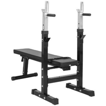Gorilla Sports Hantelbank mit Langhantelset 38 kg