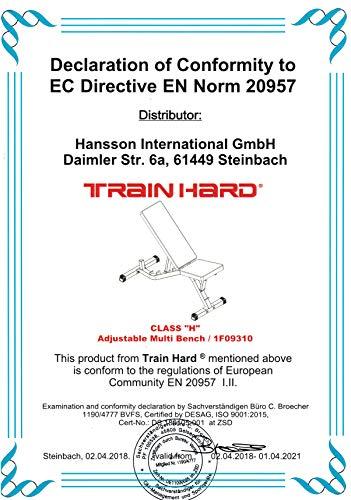 TrainHard Hantelbank Drückerbank